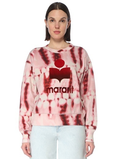 Etoile Isabel Marant Etoile Isabel Marant  Batik Desenli Logolu Sweatshirt 101601885 Renkli